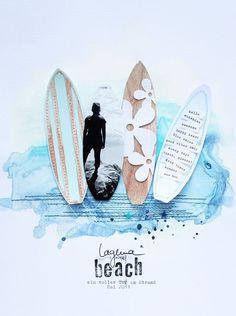 """Layout """"Laguna Beach"""" Steffi Ried #scrapbooking #papercraft"""