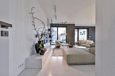 Simple and fresh looking living room Architecture Photo, Amazing Architecture, Living Room Interior, Living Rooms, Luxury Villa, Arches, Daily Inspiration, Oversized Mirror, Real Estate