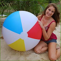 36'' Summer Classic Beach Balls with a unique matte finish cost $13.95 each