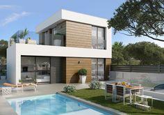 Villa till salu i Campello Pueblo - Small Beach Houses, Porch Fireplace, Private Garden, Open Plan Kitchen, Pool Houses, Alicante, New Builds, Contemporary Architecture, Building Design