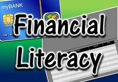 Board filled with resources and ideas for teaching financial literacy - taxes, interest, credit, and budgeting for the future (middle and high school)