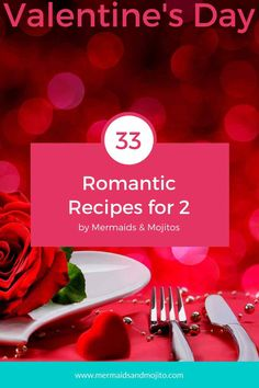 33 Romantic Recipes for two to Celebrate Valentine's Day! Simple and elegant recipes for a romantic Valentine's Day dinner. Thanksgiving Desserts Easy, Thanksgiving Side Dishes, Great Desserts, Fall Desserts, Easy Romantic Dinner, Romantic Meals, Romantic Recipes, Tailgating Recipes, Potluck Recipes