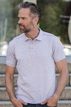 Tricou polo de bărbați, adaptat corpului din 95% bumbac, pieptănat, ringspun și 5% elastan. Polo R, Casual, Mens Tops, Fashion, Sash, Pique, Moda, La Mode, Fasion