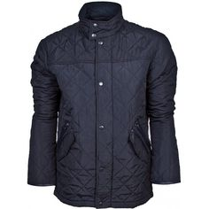 Zero Men's Quilted Navy Jacket with Cord Collar £30.00