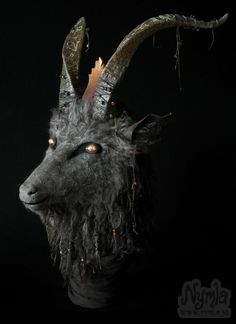 This Baphomet Goat Mask might be my favourite mask I've made so far. - Imgur