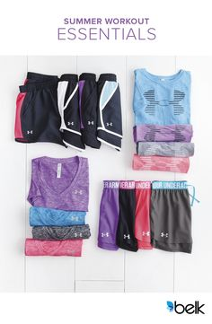 Staying cool, dry and comfortable during your summer workout is always a good thing, so stock up on pieces from Under Armour®. From Pilates class with your friends to marathon training these lightweight shorts and T-shirts will leave you looking for an excuse to go to the gym. Whatever activities keep you moving, you'll find these breathable fabrics in pretty, on-trend colors to help you stay stylishly fit. Shop the collection at Belk.com today.