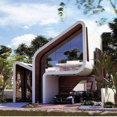 Architecture inspirations for your luxury interior design project. Architecture ins Futuristic Home, Futuristic Architecture, Sustainable Architecture, Amazing Architecture, Architecture Design, Architecture Interiors, Contemporary Interior Design, Modern House Design, Facade Design