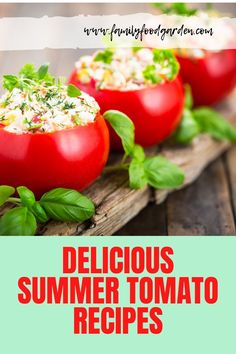 Sharing these delicious summer tomato recipes you and your family will enjoy. Plus, a few tips on how to choose the perfect tomatoes for these recipes. Beef Recipes, Cooking Recipes, Healthy Recipes, Cooking Tips, Summer Recipes, Great Recipes, Favorite Recipes, Fresh Tomato Recipes, Summer Tomato