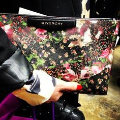 We're in love with this floral Givenchy bag spotted at London Fashion Week. www.handbag.com