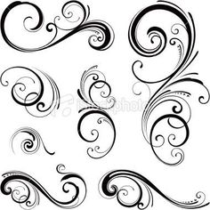 Vine tattoo Flourish Scrolls...these could work on fore arm and/wrist!