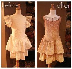 girls dress refashion #DressRefashion