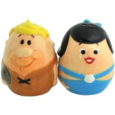 Westland Giftware The Flintstones Barney and Betty Egg Magnetic Salt and Pepper Shakers Cute Kitchen, Shaker Kitchen, Kitchen Ware, Kitchen Utensils, Kitchen Stuff, Kitchen Dining, Kitchen Ideas, Betty Rubble, Salt N Peppa
