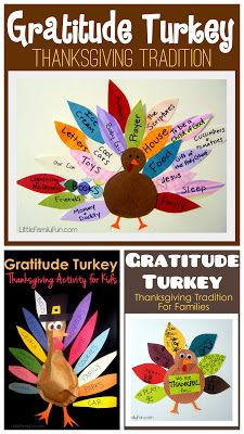 Little Family Fun: Thanksgiving Gratitude Turkeys