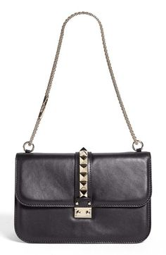 Valentino 'Lock - Medium' Leather Shoulder Bag available at #Nordstrom