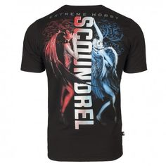 T-shirt SCOUNDREL. Color: black. T-shirt with short sleeves Extreme Hobby line Street, characterized by high quality material. Imprints are enhanced effects HD and gel. Cut t-shirt was created by us from scratch for a sense of comfort and originality.