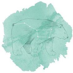 Hawthorne Threads - Celestial - Ursa Major Panel in Succulent:  #HTDreamNurseryContest
