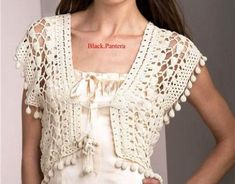 Crochet bolero designs and patterns are quite helpful to craft beautiful shrugs and boleros. Crochet is an amazing craft How To Do Crochet, Cute Crochet, Beautiful Crochet, Crochet Lace, Black Crochet Dress, Crochet Cardigan, Crochet Shrugs, Crochet Vests, Crochet Sweaters