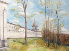 """Картина - """"У стен Новоиерусалимского монастыря"""" Размер (см.): 50x70 Масло, холст на подрамнике"""