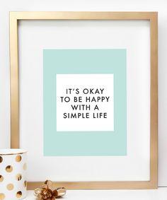 Simply happy