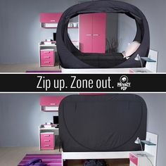 Privacy Pop bed tent for better sleep & Mom Approved. Kid Approved. Dorm Approved. These tents pretty much ...