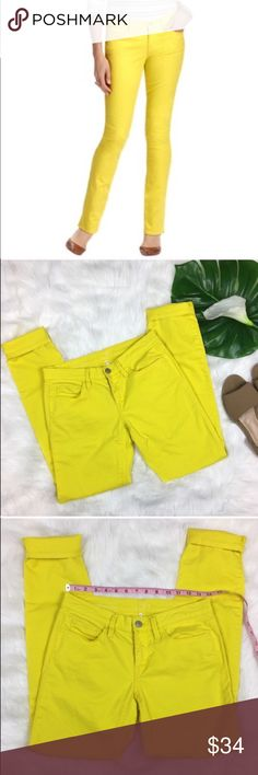 Ann Taylor LOFT Modern Skinny Jeans in Yellow Ann Taylor LOFT Modern Skinny Jeans in Yellow. Size 26/2 with 8' rise and 30' inseam. Pre-owned condition with basic wear.  ❌I do not Trade 🙅🏻 Or model💲 Posh Transactions ONLY LOFT Jeans Skinny