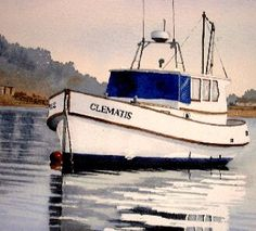 free art lesson, how to paint a boat, Part 2