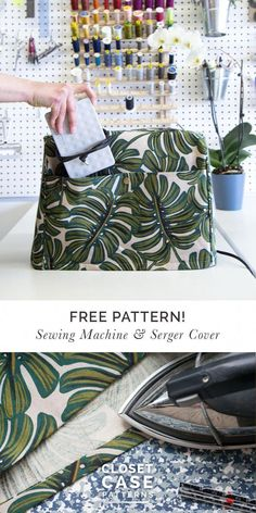 Make our Serger & Sewing Machine Cover Free Pattern Alert! Make our Serger & Sewing Machine Cover closetcasepattern… Sewing Hacks, Sewing Tutorials, Sewing Tips, Serger Sewing Projects, Sewing Machine Projects, Sewing Notions, Sewing Patterns Free, Free Pattern, Pattern Sewing