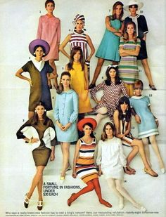1960s different fashions