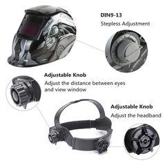 Solar Auto Darkening Welding Helmet Mask Grinding Welder Protective GearsODHE