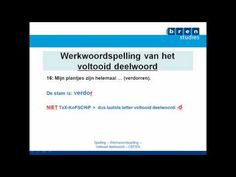 ▶ BRENoefening Nederlands Werkwoordspelling Voltooid deelwoord 2 - YouTube