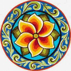 La Costa 1 By Jennifer Brinley. Mandala Drawing, Mandala Painting, Ceramic Painting, Mandala Art, Little Girls Makeup, Paint Your Own Pottery, Plastic Design, Truck Art, Barn Quilts