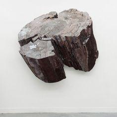 Ron van der Ende wooden stump sculture