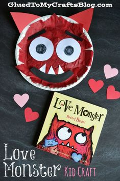 Paper Plate Love Monster {Kid Craft} - This book is adorable! My kiddos LOVE it.