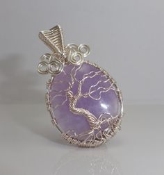 Amethyst Tree of Life Wire Wrapped Pendant. This just breathtaking!