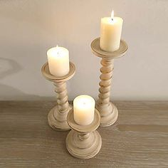 #ReclaimYourRoom Set of 3 Candle Sticks