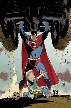 Superman (Clark Kent) - art by Lee Weeks - DC Comics Mundo Superman, Superman Family, Superman Man Of Steel, Batman And Superman, Marvel Dc Comics, Dc Comics Art, Comic Books Art, Comic Art, Supergirl