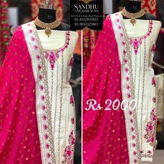 Punjabi Salwar Suits, Boutique Suits, Embroidery Suits Design, Bangs, Sari, Fashion, Fringes, Saree, Moda
