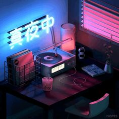 aesthetic neon vaporwave gifs perfect animated japan pixel studio retro beach palace rooms le wallpapers
