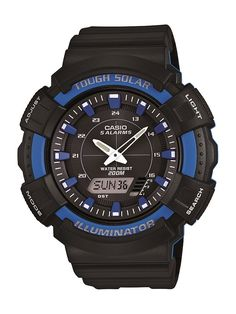 379139b514f Casio Mens Solar Watch with Black Resin Band