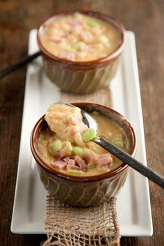 BUTTER BEAN SOUP.  I make this all the time. love it.. i always stir in an 8 oz. block of cream cheese.. oh yumm yummmmm.
