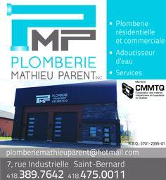 Plomberie Mathieu Parent, plombier situé à Saint Bernard en Beauce qui offre des services de plombierie dans le domaine résidentiel. Faites affaire avec la plomberie Mathieu Parent pour un travail de qualité. Membre de la régie du bâtiment et CMMTQ