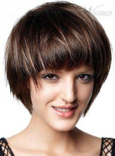 Hairfinder short haircuts haare und beauty pinterest short stylish elegante short straight 100 real human hair wig winobraniefo Image collections