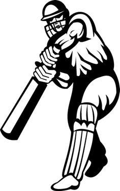 Cricket batsman vinyl sport wall art sticker decal home decor boy bedroom Cricket Poster, Cricket Logo, Cricket Sport, Cricket Bat, Live Cricket, Wall Stickers Sports, Sports Wall, Vinyl Wall Decals, Stencil Patterns