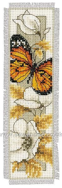 Shop online for Orange Butterfly on Flowers Bookmark Cross Stitch Kit at sewandso.co.uk. Browse our great range of cross stitch and needlecraft products, in stock, with great prices and fast delivery.