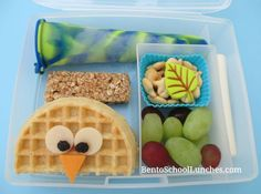 Peeking Owl Waffle breakfast for lunch. GreenPaxx Slim Snack Reusable Snack Packs Review