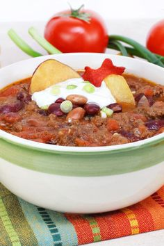 Recipe including course(s): Soup; and ingredients: beans, corn, onion, pinto beans, ranch dressing, stewed tomatoes, taco seasoning mix, turkey breast