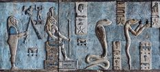[EGYPT 29576]<br /> 'Lions and snakes on astronomical ceiling at Dendera.'<br /> <br /> Snakes and lions in all kind of forms populate the astronomical ceiling in the outer hypostyle hall of the Hathor Temple at Dendera. The ceiling consists of seven separate strips but here we are looking at a detail of the upper register of the SECOND STRIP WEST from centre.<br /> The figures in this picture represent decans.<br /> Decans were essentially 36 stars or star groups near the ecliptic whose…