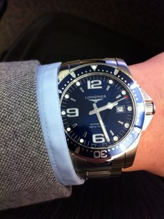 Longines Hydroconquest. Perfect blue.