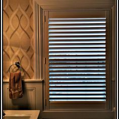 "When we say ""perfect fit"" we mean it.  these Hunter Douglas New Style Hybrid shutters in this powder room.  #windowtreatments  #windowshades  #shades  #interiordesign  #picoftheday  #drapery  #curtains #blackoutcurtains  #Plantation_shutters  #chicagorealestate #slidingglassdoors  #elmhurst #goldcoast  #hinsdale  #oakpark  #hydepark #lagrange  #lincolnpark  #oakbrook  #parkridge #newhouse  #IOT  #smarthome  #connected_home #hunterdouglas  #henrys  #motorizedshades  #smartenergysystem…"