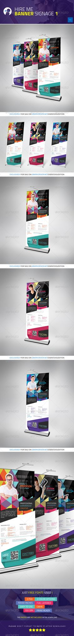 Buy Hire Me - Banner Signage 1 by cooledition on GraphicRiver. Hire Me – Banner Signage 1 Suitable for: Signage Design, Banner Design, Flyer Design, Web Design, Letterhead Template, Brochure Template, Flyer Template, Event Banner, Web Banner